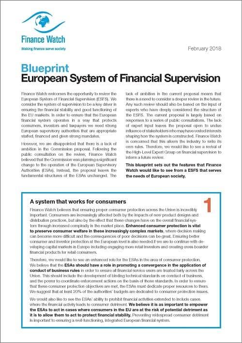 Finance watch blueprint on the european system of financial finance watch blueprint on the european system of financial supervision finance watch malvernweather Gallery