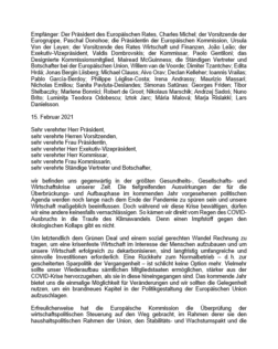 Finance Watch Screenshot German letter fiscal policy